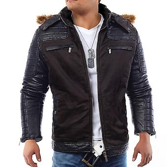 Men's winter jacket jacket dope Dragon biker leather jacket quilted design leather