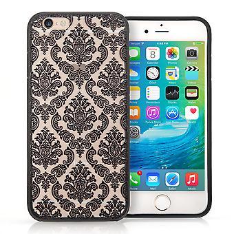 iPhone 6 s étui rigide à motifs - Damas noir