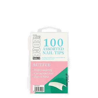 The Edge Nails Active Tips x 100 Assorted