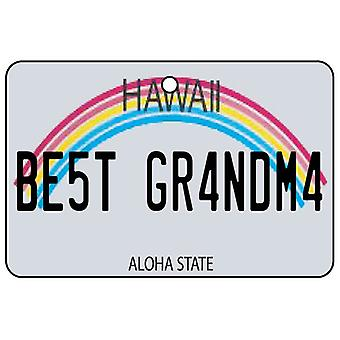 Hawaii - Best Grandma License Plate Car Air Freshener