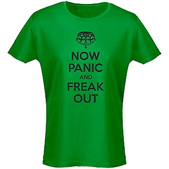 Now Panic And Freak Out Funny Womens T-Shirt 8 Colours by swagwear