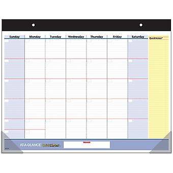 AT-A-GLANCE QuickNotes Undated Monthly Desk Pad 22