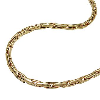 Necklace round cobra chain gold plated