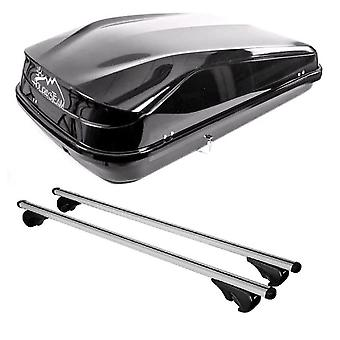 Roof Bars & 420L Large, Black Box For Vauxhall ASTRA Mk3 Estate 1991-1998
