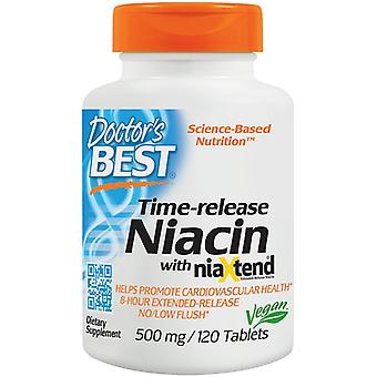 Doctor's Best Timerelease Niacin with niaXtend 500 mg 120 tabs