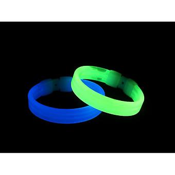 Smiffys Wide Glow Bracelet Assorted Colours 20Cm / 8In (Babies and Children , Costumes)