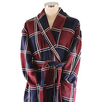 Bown of London Denver Dressing Gown - Brown/Blue/White