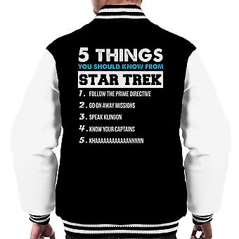 Five Things You Should Know From Star Trek Men's Varsity Jacket