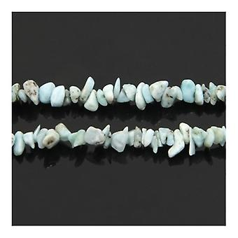 Strand 140 + Larimar blu pallido 5-8mm Chip Beads Y02160