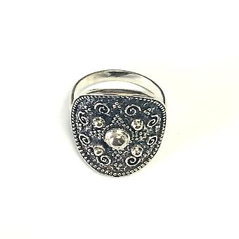 Sterling Silver Byzantine Style Round Ring