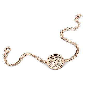 Orphelia Silver 925 Bracelet Rosegold Circle With Flower Mop  ZA-7163/RG
