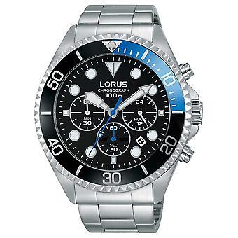 Lorus Mens Sport Chronograph rostfritt stål armband RT315GX9 Watch