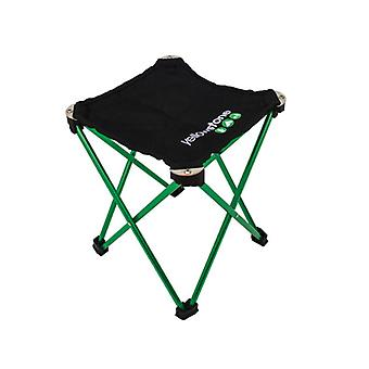 Yellowstone Lightweight Stool Green Frame / Black Top