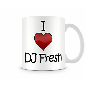 DJ Fresh imprimé J'aime la tasse