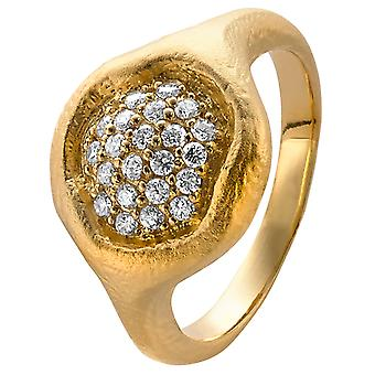 Orphelia Silver 925 Ring  Zirconium  Gold  ZR-3924/1