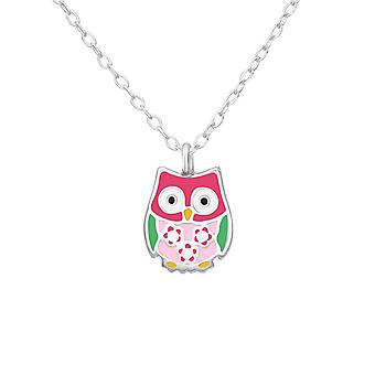 Owl - 925 Sterling Silver Necklaces - W37601X