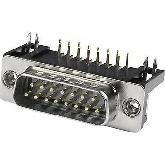 Econ ansluta ST9WB / 9G D-SUB pin strip 90 ° antal stift: 9 löda stift 1 dator fack