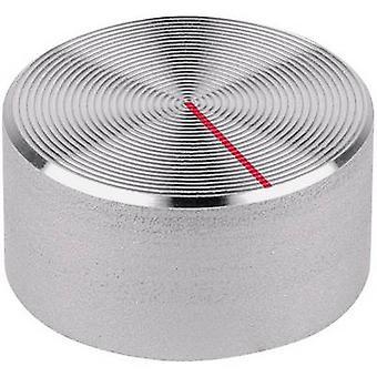 Mentor 523.611 Aluminium Turning Knob, Red Indicator Mark, Protective Finish
