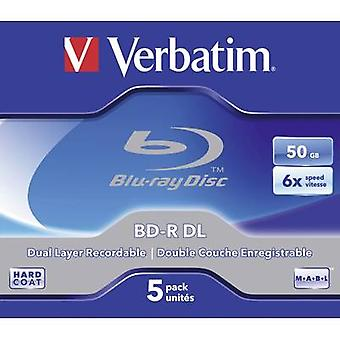 En blanco de Blu-ray BD-R DL 50 GB Verbatim 43748 5 caja PC