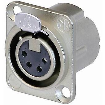XLR connector Sleeve socket, straight pins Number of pins: 4 Silver Neutrik NC4FD-LX 1 pc(s)