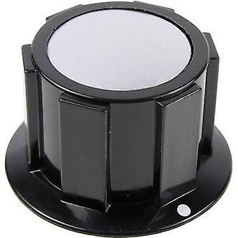 Cliff FC1616 K1C Knob Blk / Silver 6.35mm Screw Fix