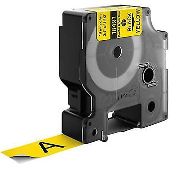 Etiquetado color de cinta cinta DYMO IND RHINO 18491: fuente amarillo color: negro 19 mm 3,5 m