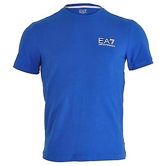 EA7 Emporio Armani Train Core ID Logo V-Neck T-Shirt, Royal Blue, Medium
