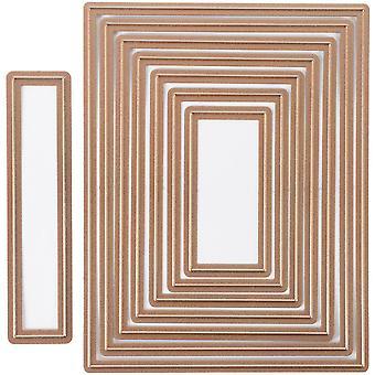 Spellbinders Nestabilities A2 Card Creator Dies-mattor grunderna A