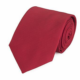 Schlips Krawatte Krawatten Binder 8cm rot uni Fabio Farini