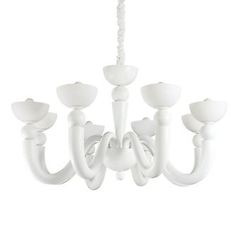 Ideal Lux Bon Bon 8 Bulb Pendant Light White
