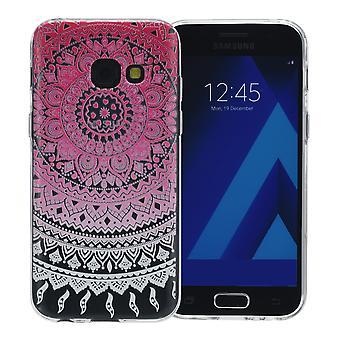 Henna cover til Samsung Galaxy S6 tilfælde beskyttende dække silikone solen pink