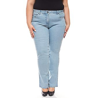 sheego denim stretch jeans with embroidery plus size blue