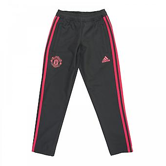 Adidas Juniors Manchester United Woven Training Pants (Black)