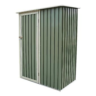 Charles Bentley haven 4,7 ft x 3 ft Metal Storage Shed brystet lille grønt tag døren Apex