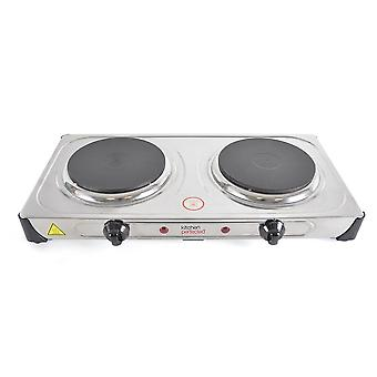 Lloytron E4203SS KitchenPerfected 2000w Double Table Top Hob