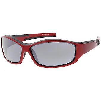 TR-90 Sports Wrap Sunglasses Tapered Arms Rectangle Lens 66mm
