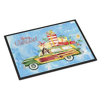 Merry Christmas Brown Parti Cocker Spaniel Indoor or Outdoor Mat 18x27