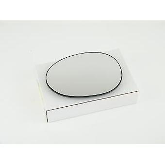Left Passenger Side Mirror Glass & Holder for Citroen C1 2005-2014
