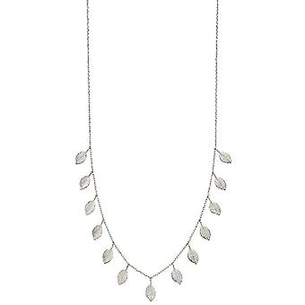 Elements Silver Multi Leaf Necklace - Silver
