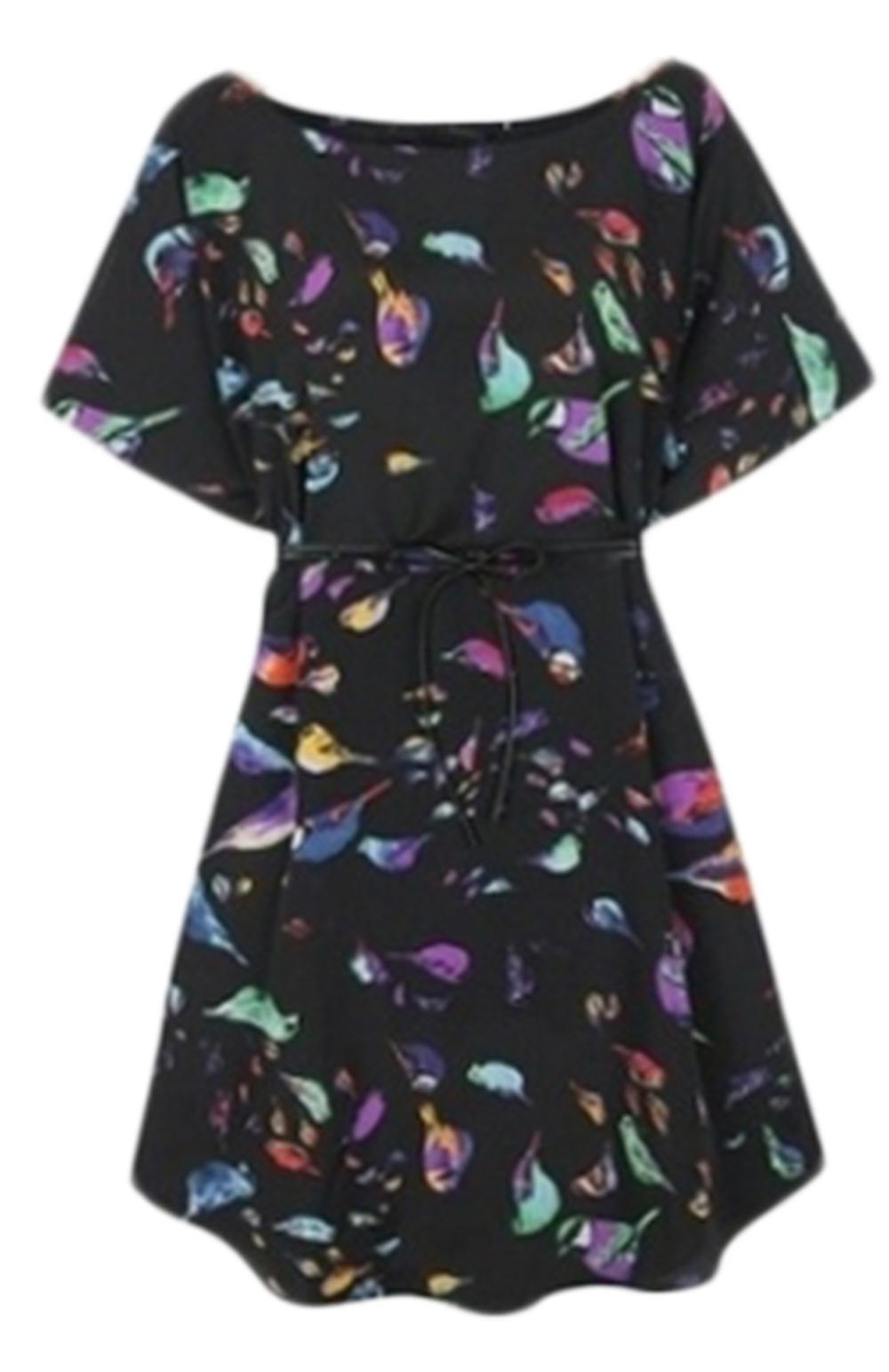 Waooh - Bird Pattern Dress Cean