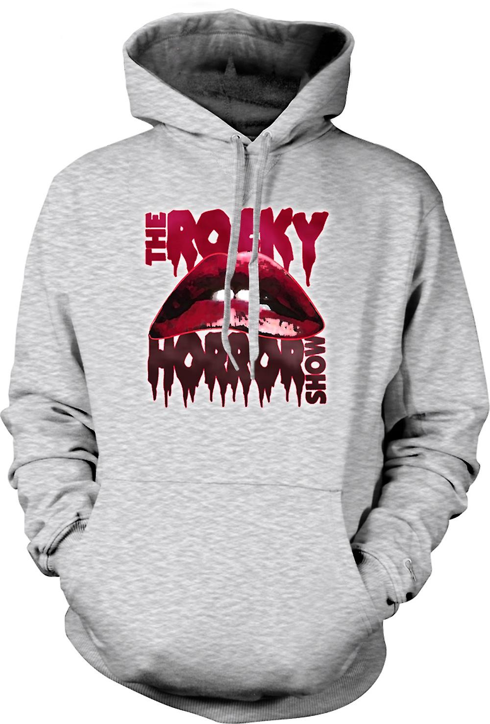 Mens Hoodie - Rocky Horror Show - Lips - Funny