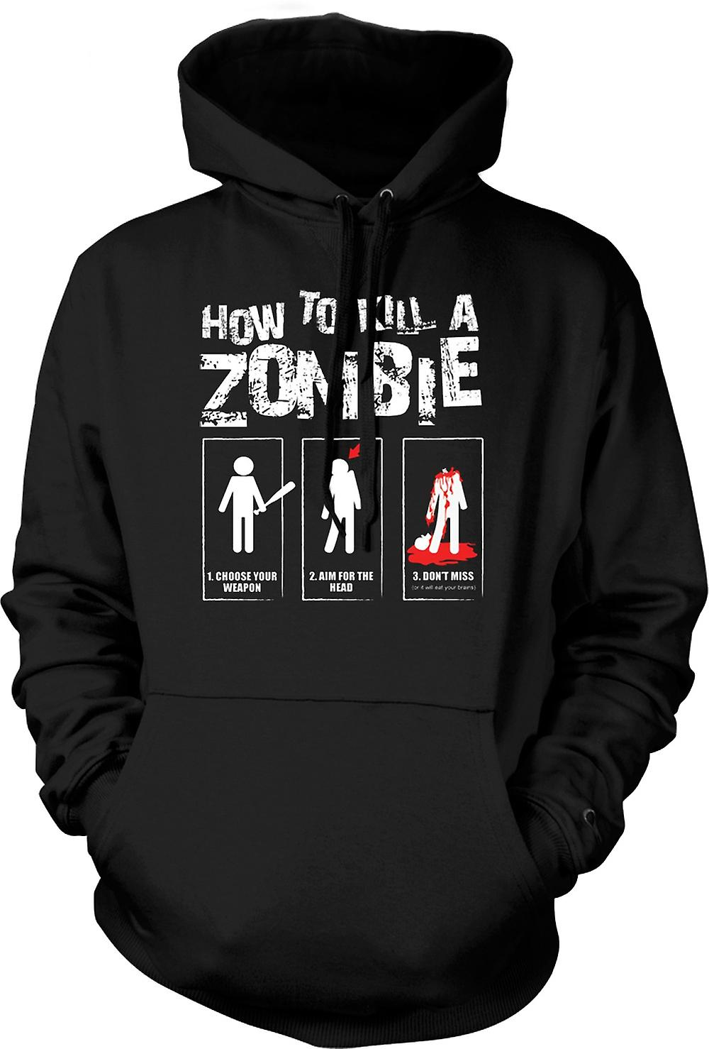 Kids Hoodie - How To Kill A Zombie - Funny
