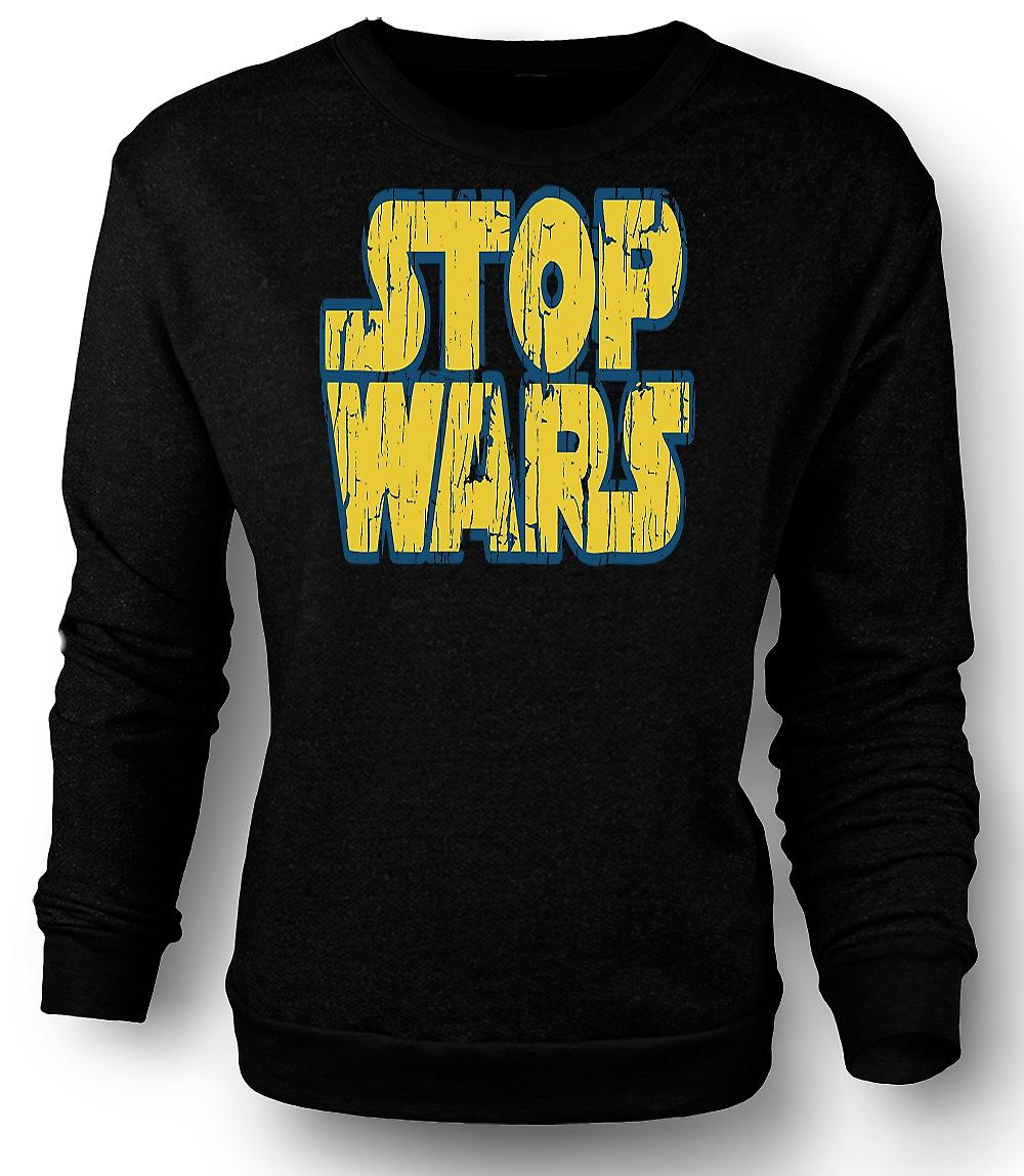 Mens Sweatshirt Stop Wars (Star Wars) - conspiration - Funny