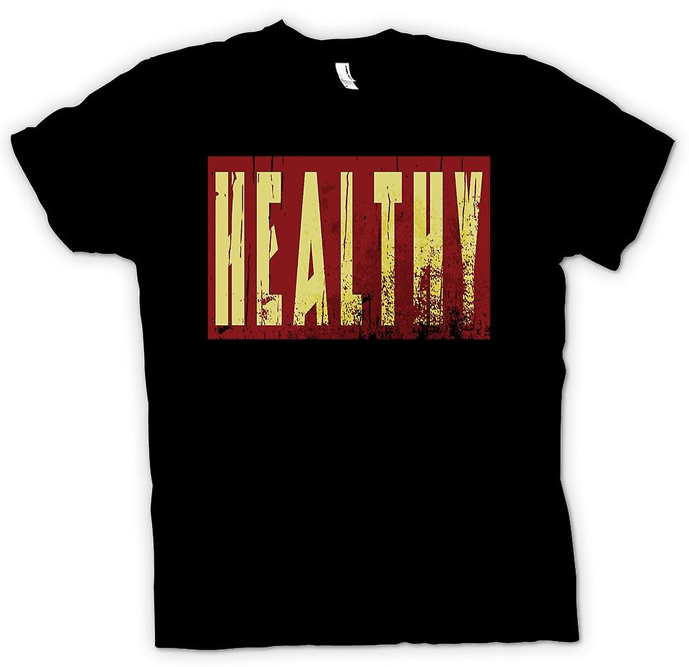 Heren T-shirt - Healthy - grappige grap