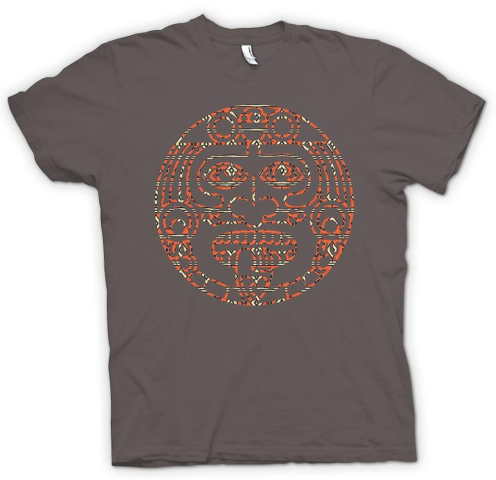 Heren T-shirt-Azteekse Tribal tong Tattoo