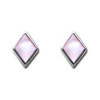 Toc Sterling Silver Mother Of Pearl Kite 6mm Stud Earrings