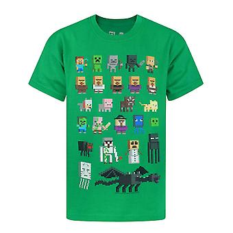 Minecraft Sprites Boys Green T-shirt