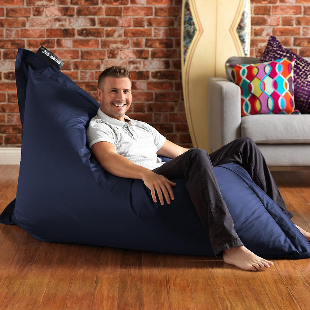 Bazaar Bag® - Giant Beanbag - Navy Blue, 180cm x 140cm - Indoor Outdoor Garden Floor Cushion Bean Bags