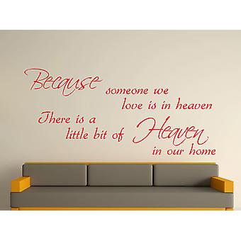 Because Someone Wall Art Sticker - Tomato Red