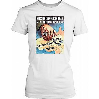 Bitar av slarvig Talk är pusslas ihop av fienden - WWII damer T Shirt